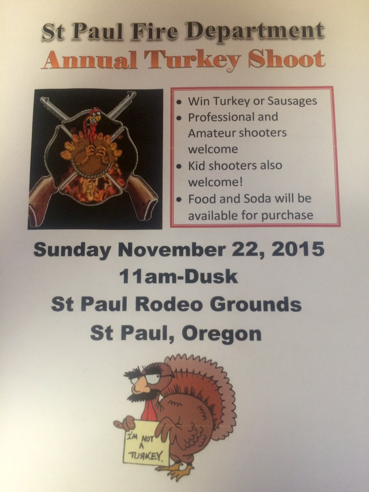 Turkey Shoot November 22, 2015
